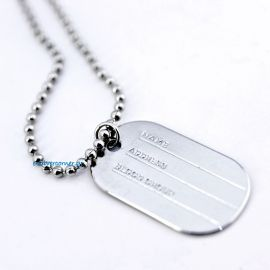 Steel Dog Tag with Chain