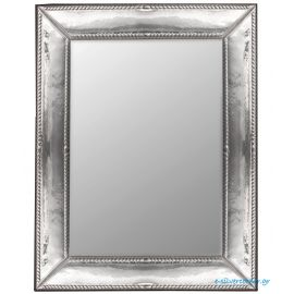 Sterling Silver Mirror with Wood Back