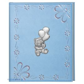 Ciel Leather Photo Album with Daisies and Balloons
