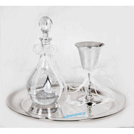 Wedding set CRYSTAL SET 046 - Silver details
