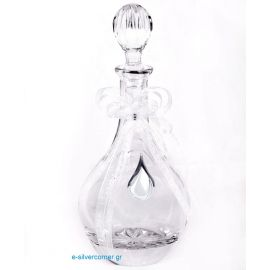 Crystal wine decanter 053 - Sterling silver decoration