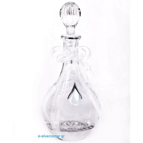 Crystal Wedding Decanter BOHEMIAN BUBBLE SILVER
