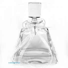 Crystal wine decanter 107/S with silver details