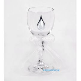Crystal Wedding Wine Glass BOHEMIAN MARIGOLD SILVER