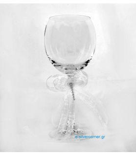 Crystal Wedding Wine Glass BOHEMIAN BLOOM