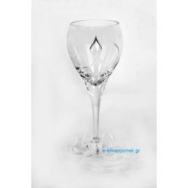 Crystal Wedding Wine Glass BOHEMIAN LILLY SILVER