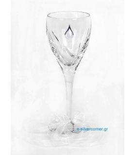 Ποτήρι Κρασιού για Γάμο CRYSTAL DAISY SILVER
