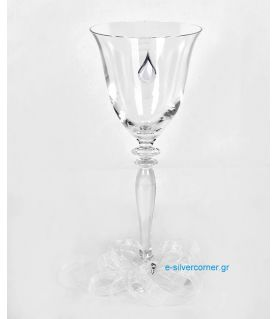 Crystal Wine Glass 128/S - Sterling silver decoration