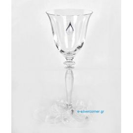 Crystal Wedding Wine Glass RONA ROSE SILVER