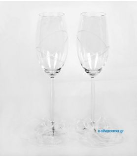 Crystal champagne glasses 147 (2 pieces)