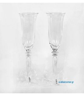 Crystal champagne glasses 169 (2 pieces)