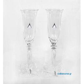 Champagne Glasses CHAMPAIGN RONA ROSE SILVER