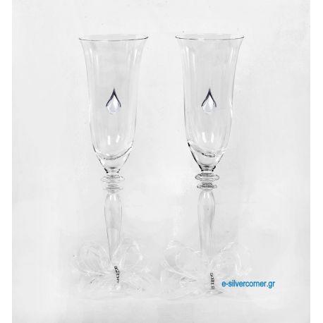 Ποτήρια Σαμπάνιας 169 με Ασήμι (Σετ 2 τμχ)
