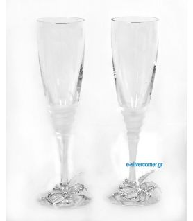 Crystal champagne glasses 187 (2 pieces)