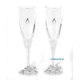 Champagne Glasses SP CHAMPAIGN GARDENIA SILVER
