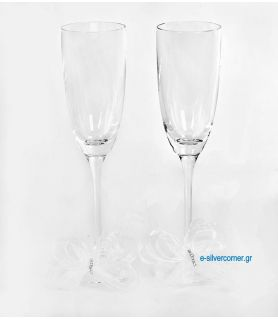 Crystal champagne glasses 190 (2 pieces)