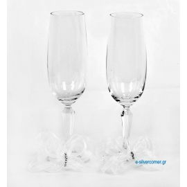 Crystal champagne glasses 205 (2 pieces)