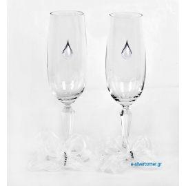 Champagne Glasses ΒΟΗΕΜΙΑΝ CHAMPAIN NICOLE SILVER