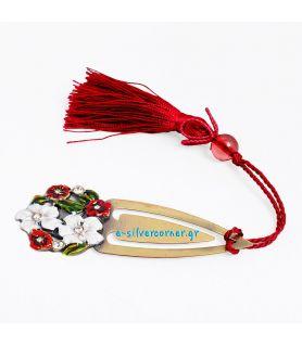 Σελιδοδείκτης κόκκινες μαργαρίτες ( Μήκος 9 εκ.)