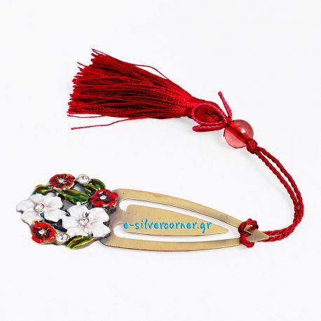 Red Daisies Bookmark - 9 cm