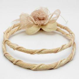 Στέφανα Γάμου Vintage Λινάτσα - Δαντέλα