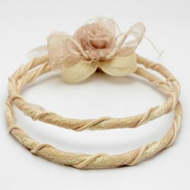 Vintage Wedding Crowns with Burlap and Lace
