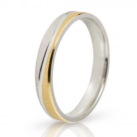 Two-tone Wedding Rings