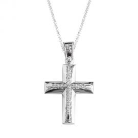 White Gold Baptism Crosses