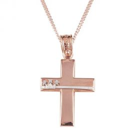 Rose Gold Baptism Crosses