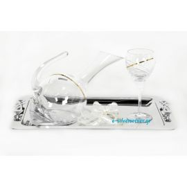 Wedding Set Tray - Decanter - Wine Glass